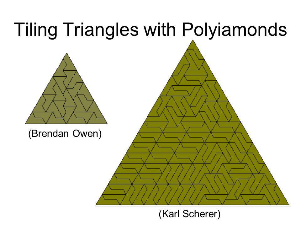 Tiling Triangles with Polyiamonds (Karl Scherer) (Brendan Owen)