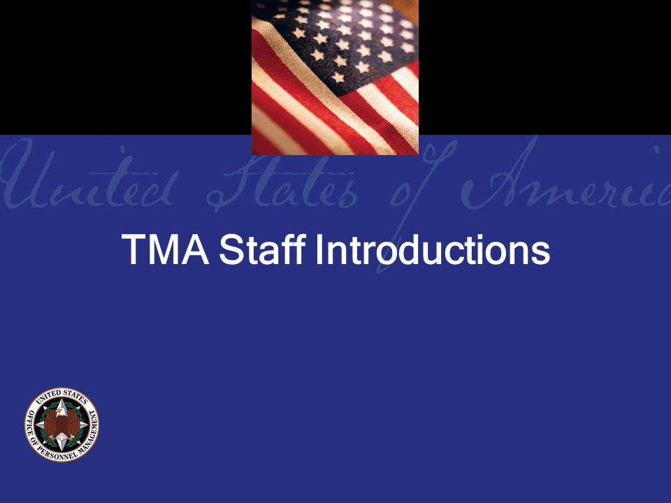 TMA Staff Introductions