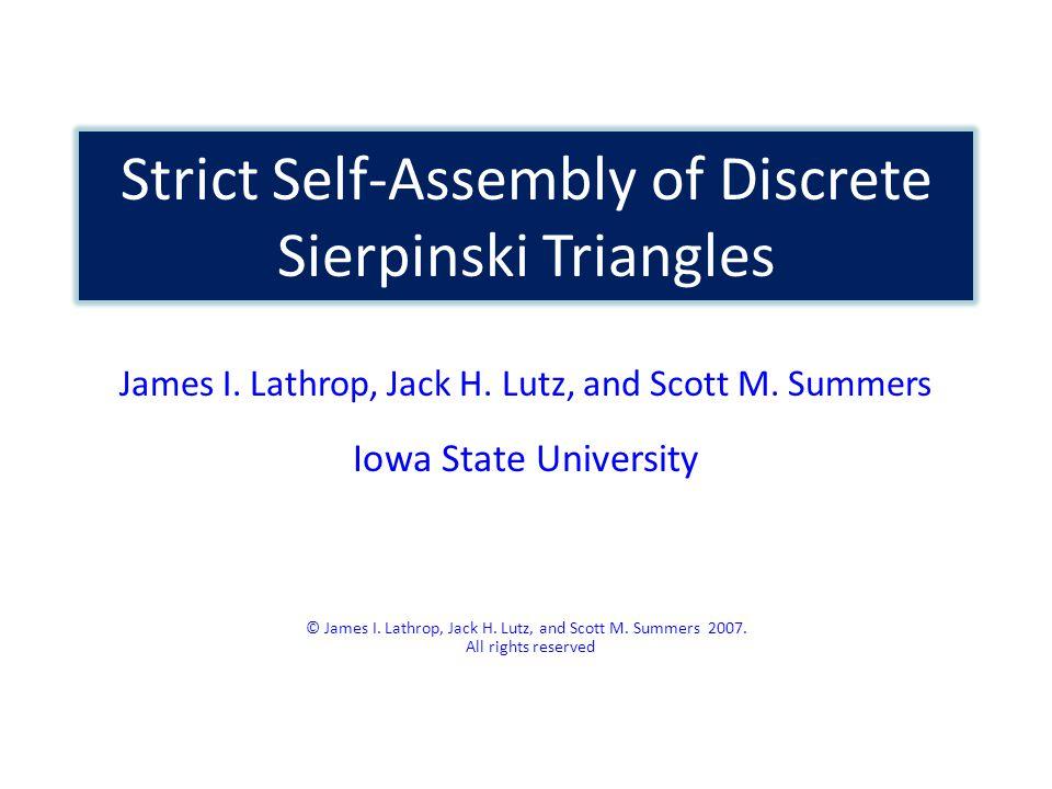 The Fibered Sierpinski Triangle Lemma. Dim ς (S) = Dim ς (T) 1.518.
