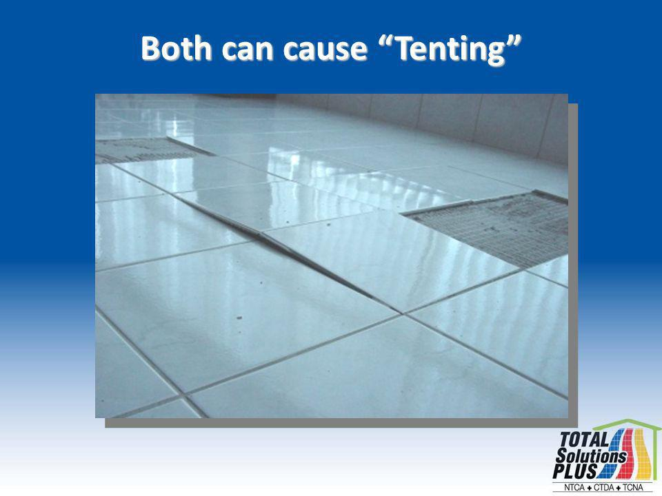Both can cause Tenting
