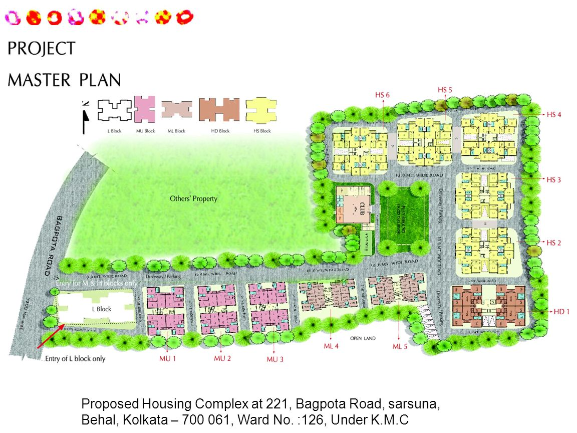 Proposed Housing Complex at 221, Bagpota Road, sarsuna, Behal, Kolkata – 700 061, Ward No.