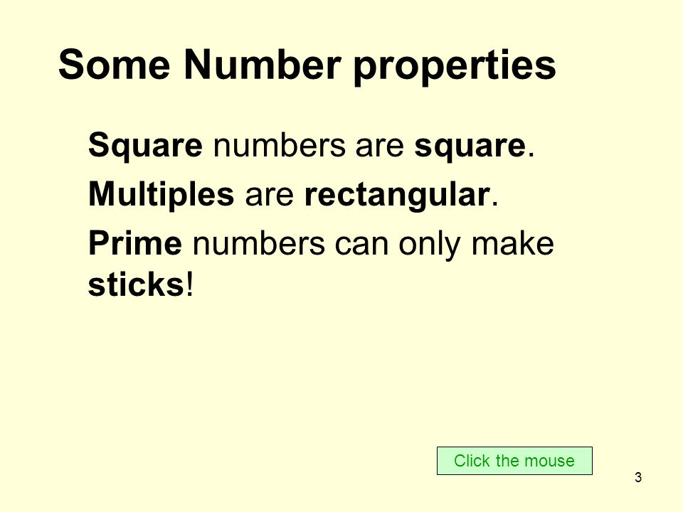 4 Think about the numbers 1 to 10 Click the mouse 1 2 3 4 5 6 7 8 9 10
