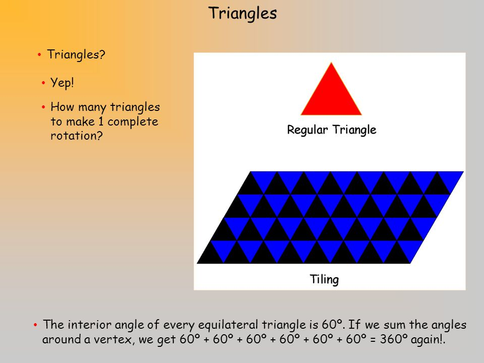Which other regular polygons do you think can tile the plane? Regular tiling