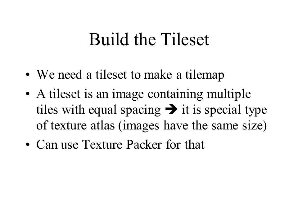 Build the Tileset Inside Texture Packer, set Sort By Name Tiled refers to individual tiles in the tileset by position and offset only it is important that the tiles in the tileset stay in the same position (if you sort them by name, they will)