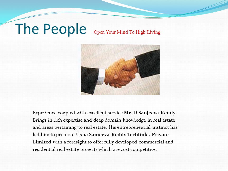The People Open Your Mind To High Living Experience coupled with excellent service Mr.