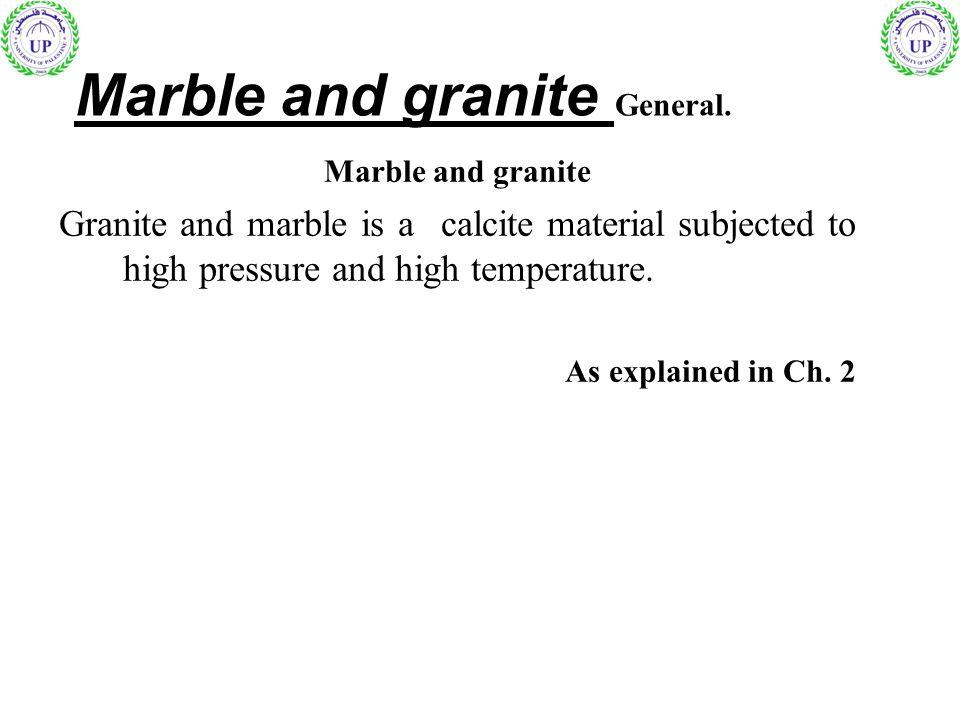 Marble and granite General.