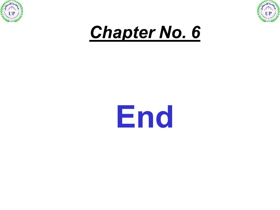 End Chapter No. 6
