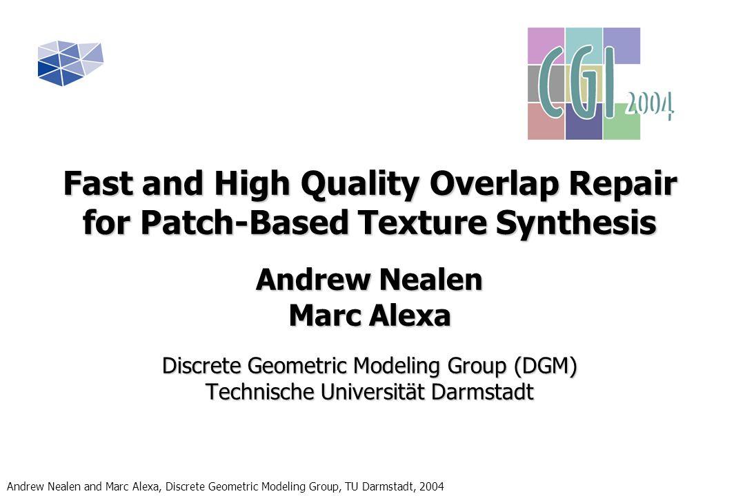 Andrew Nealen and Marc Alexa, Discrete Geometric Modeling Group, TU Darmstadt, 2004 Questions .