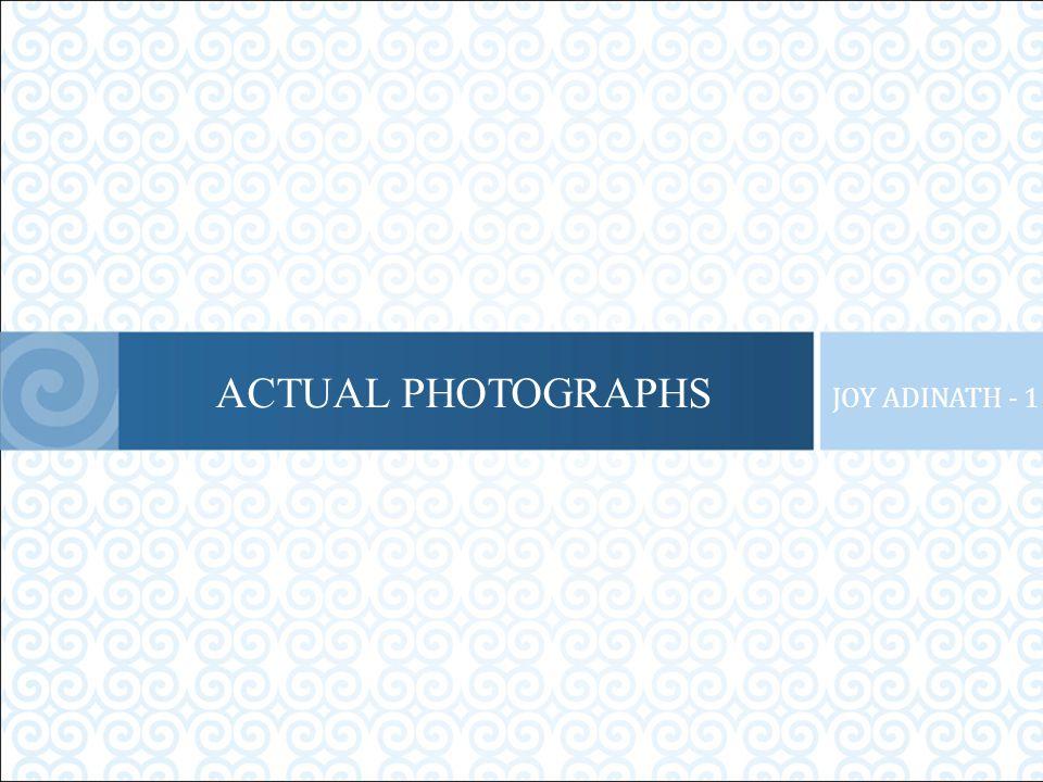 ACTUAL PHOTOGRAPHS JOY ADINATH - 1