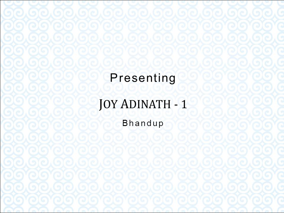 Joy – A sustained sense of well-being and internal peace...
