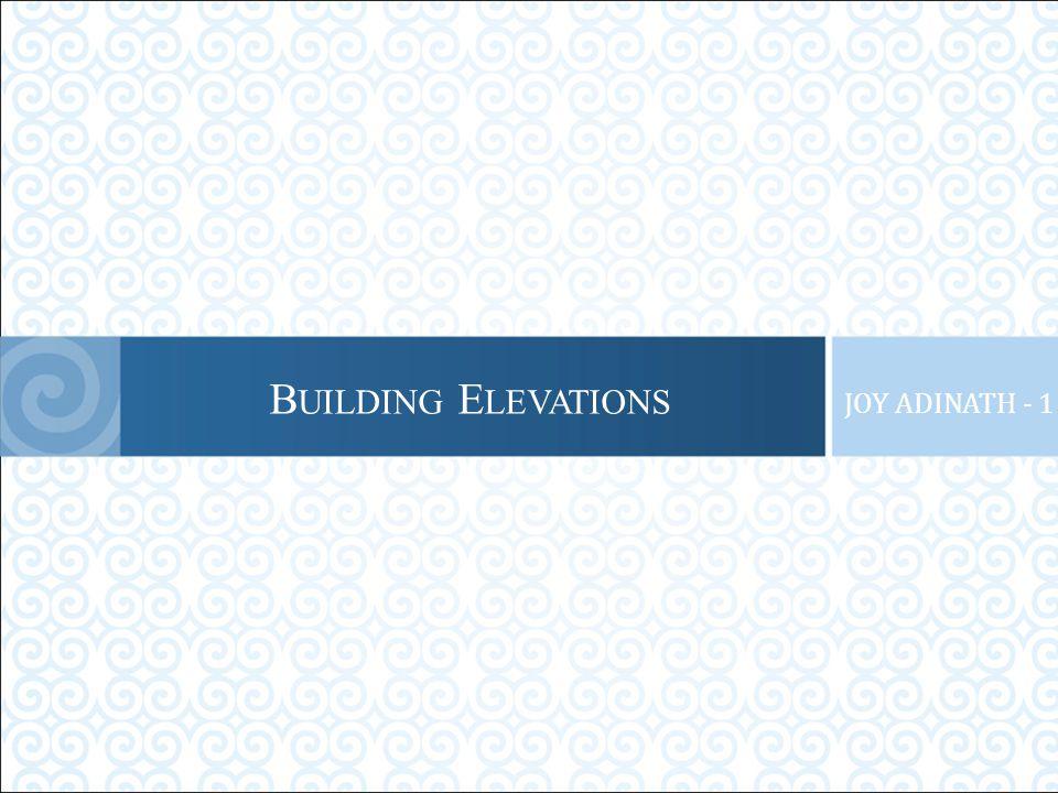 B UILDING E LEVATIONS JOY ADINATH - 1