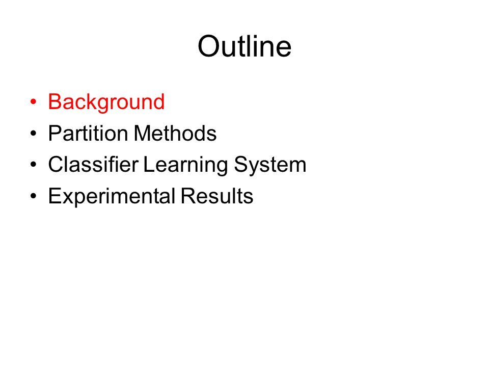 Learn with Classifier System PatternAction (10***,11***)PS 100 …… (010**,011**)PB (4,4)
