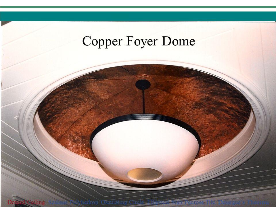 Domed Ceiling Szalassi Polyhedron Osculating Circle Elliptical Stair Penrose Tile Desargues Theorem Copper Foyer Dome