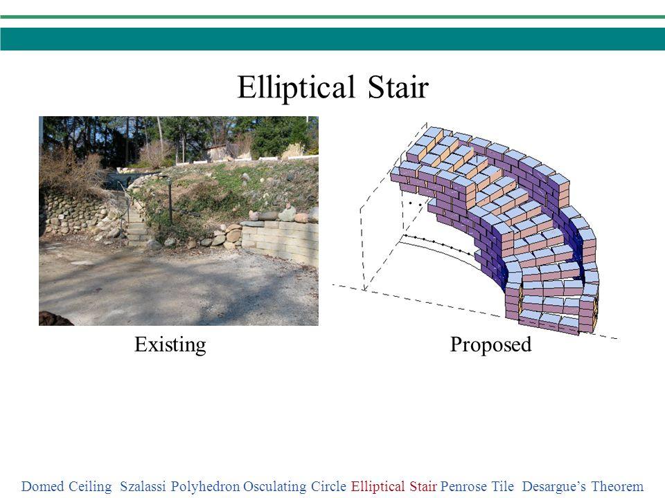 Elliptical Stair ProposedExisting Domed Ceiling Szalassi Polyhedron Osculating Circle Elliptical Stair Penrose Tile Desargues Theorem