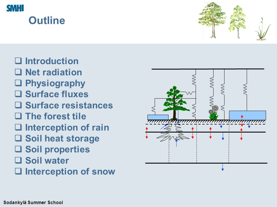 Sodankylä Summer School The role of the land surface in NWP/climate models Act as a lower boundary for the atmosphere.