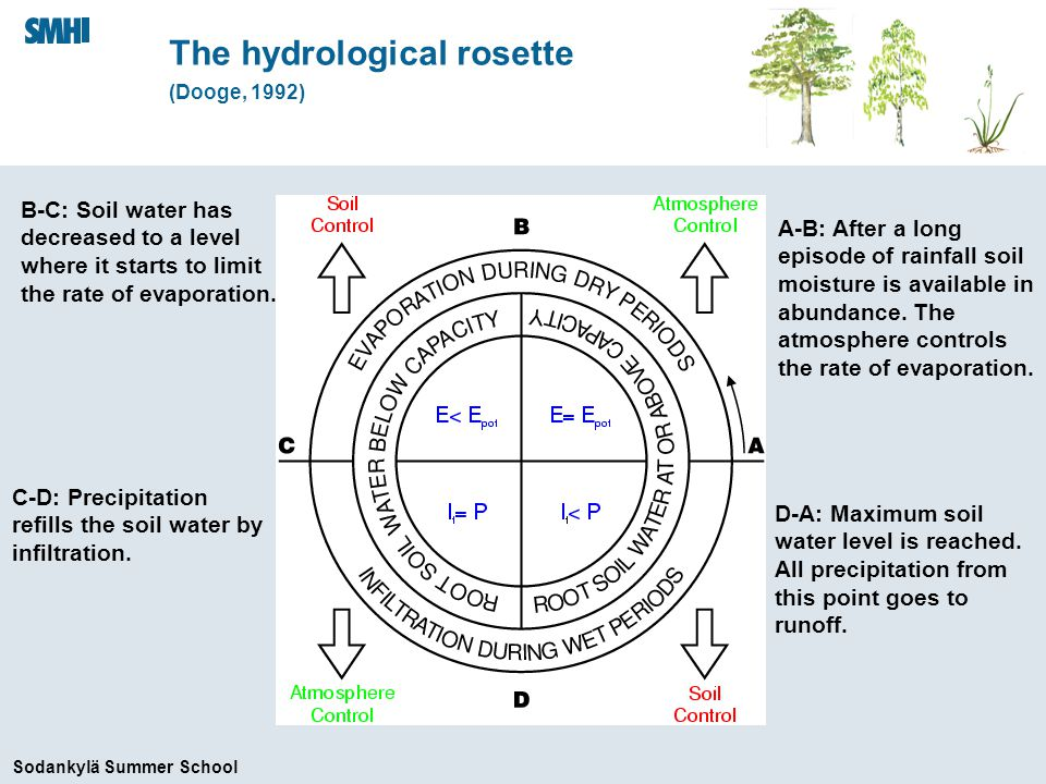 Sodankylä Summer School q fora Characterized by low tree heat capacity & small r b T am q am r afor w cfor r s, r b rdrd r soilsc T forsn rdrd T forc T fora are canopy air temperature and humidity The forest tile latent heat flux q fora T fora where q fora is solved for in a similar manner as for T fora using a balance between latent heat fluxes