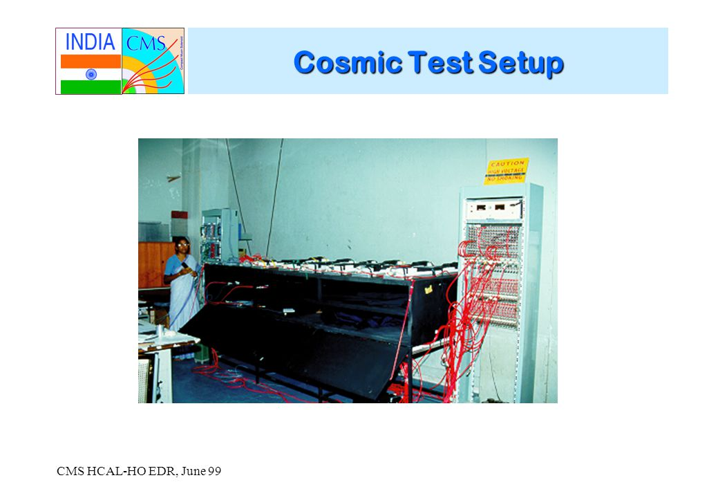 CMS HCAL-HO EDR, June 99 Cosmic Test Setup