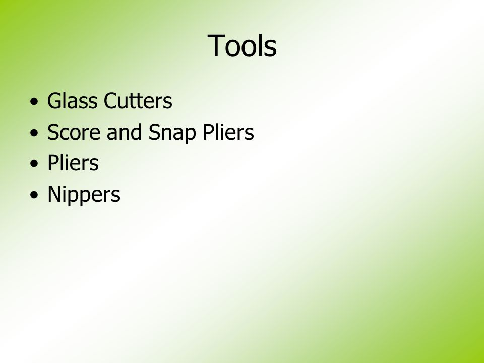 Tools Glass Cutters Score and Snap Pliers Pliers Nippers