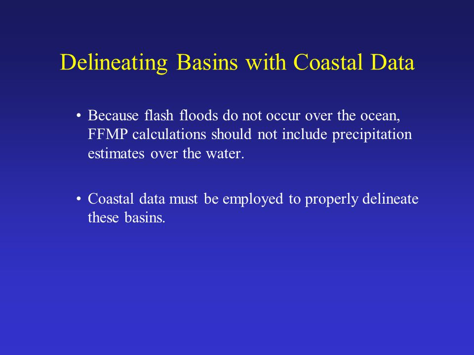 Delineating Basins with Coastal Data Basins and streams derived from the DEM without additional coastal data.