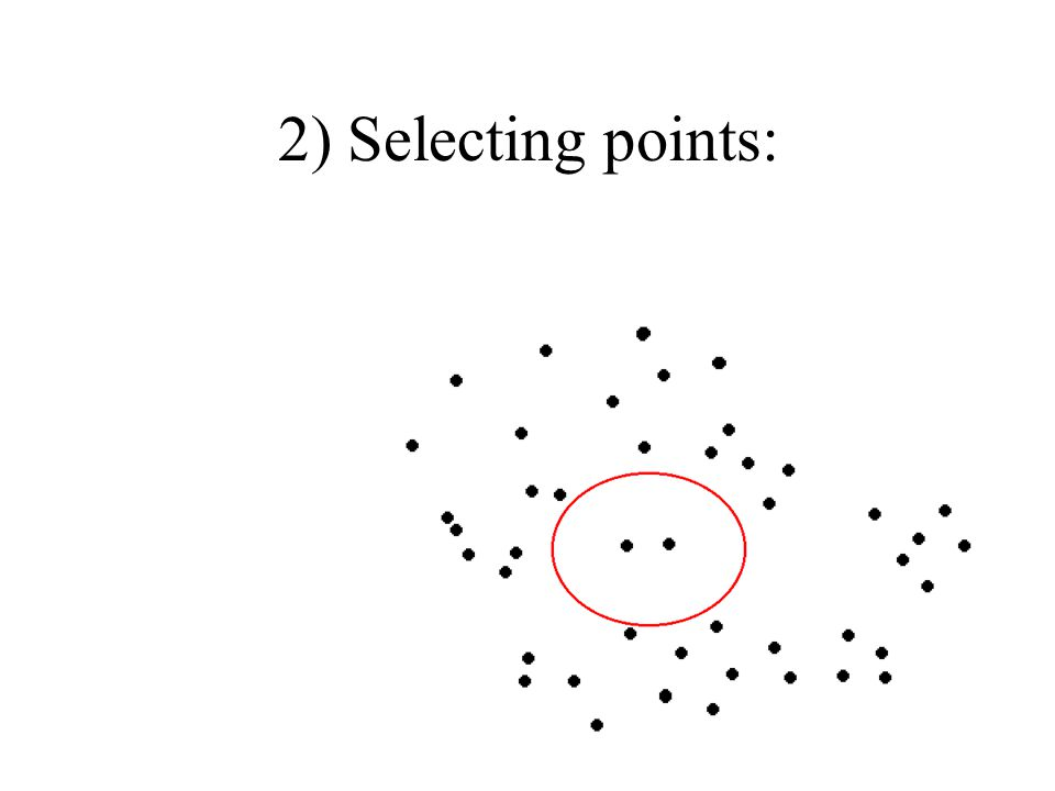 2) Selecting points: