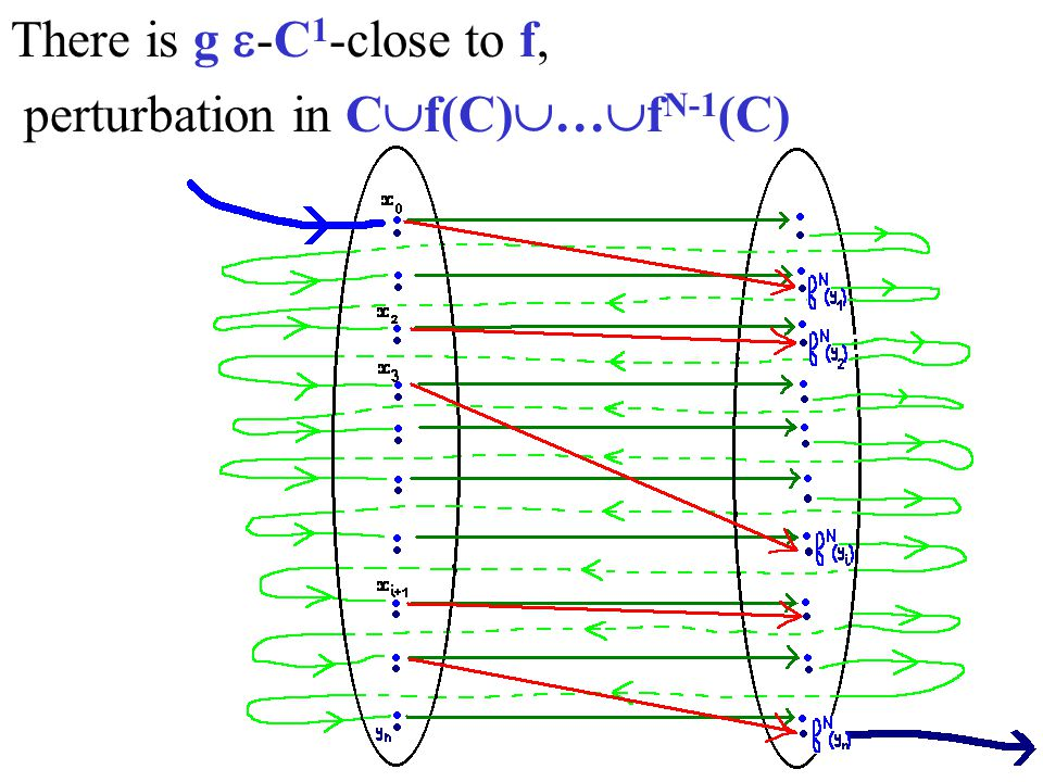 There is g -C 1 -close to f, perturbation in C f(C) … f N-1 (C)