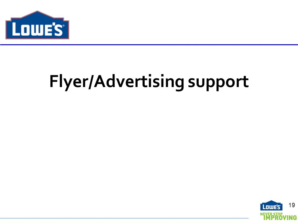 Flyer/Advertising support 19