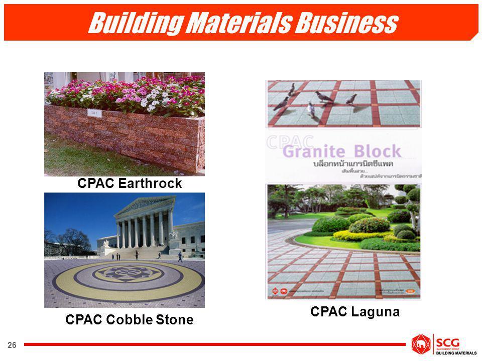 26 CPAC Laguna CPAC Earthrock CPAC Cobble Stone Building Materials Business