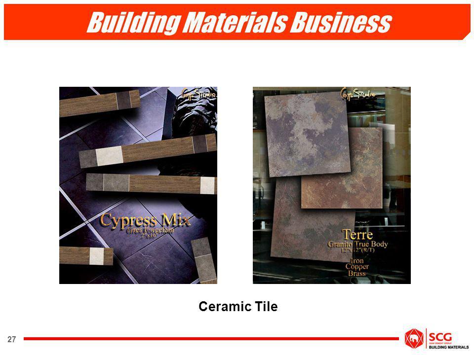27 Ceramic Tile Building Materials Business