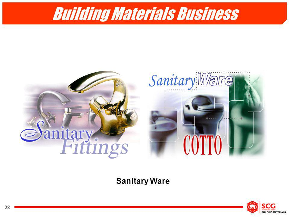 28 Sanitary Ware Building Materials Business