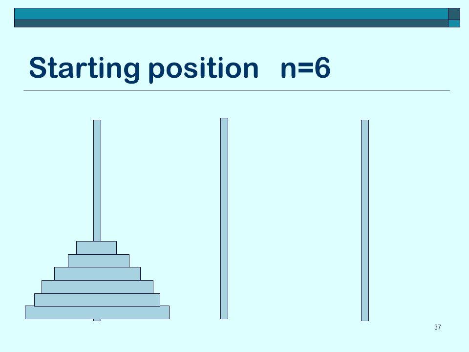 Starting position n=6 37