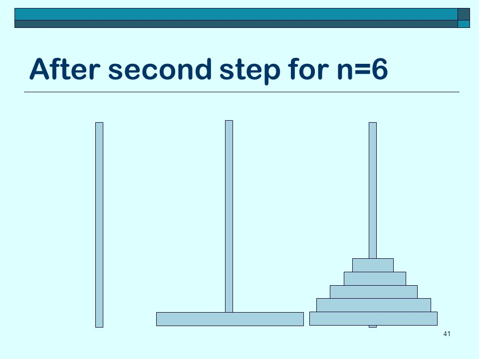 After second step for n=6 41