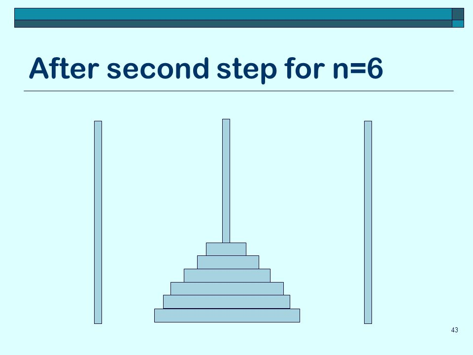 After second step for n=6 43