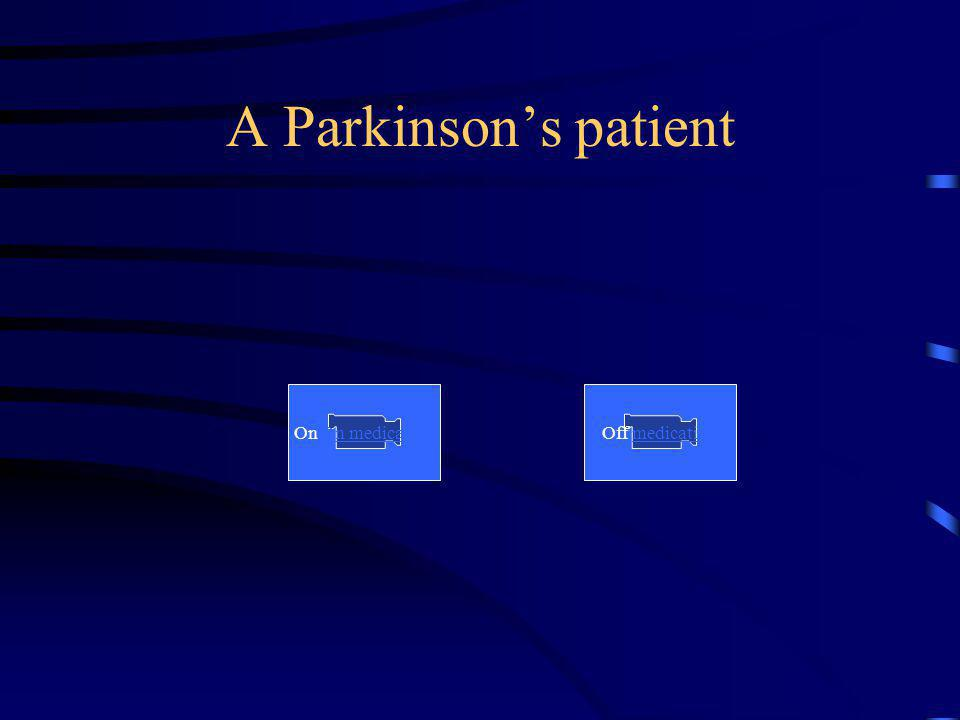 A Parkinsons patient On On medicationOff medication