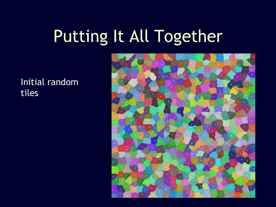 Initial random tiles