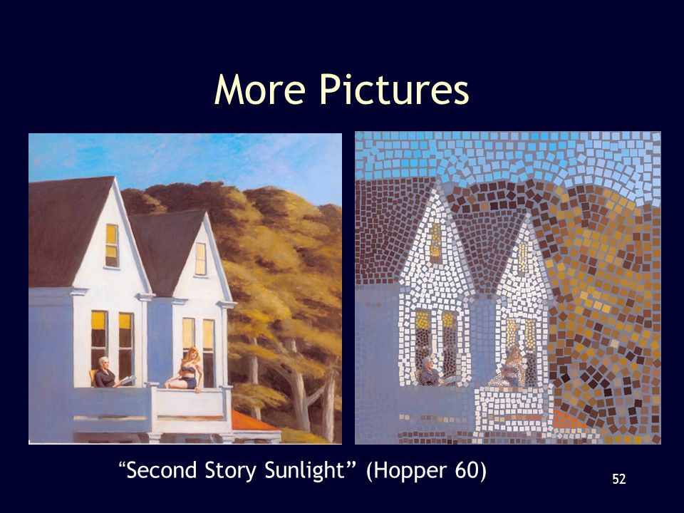 52 More Pictures Second Story Sunlight (Hopper 60)
