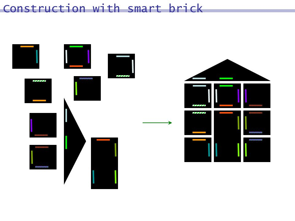 Construction with smart brick