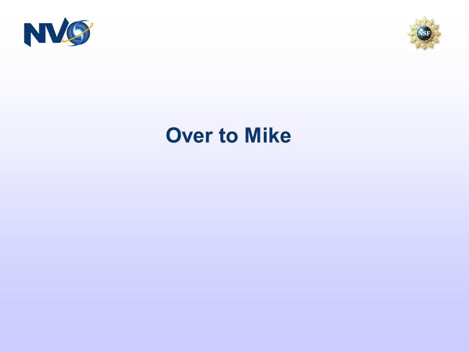 Over to Mike