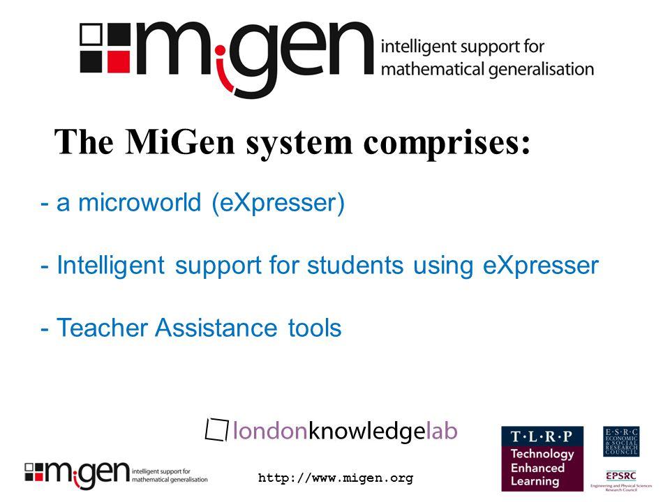 http://www.migen.org A MiGen task Task Question Construct the Train-Track model.