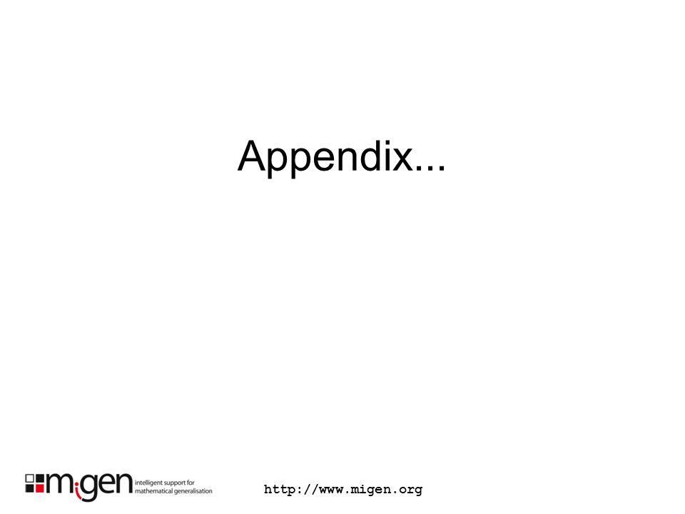 Appendix... http://www.migen.org