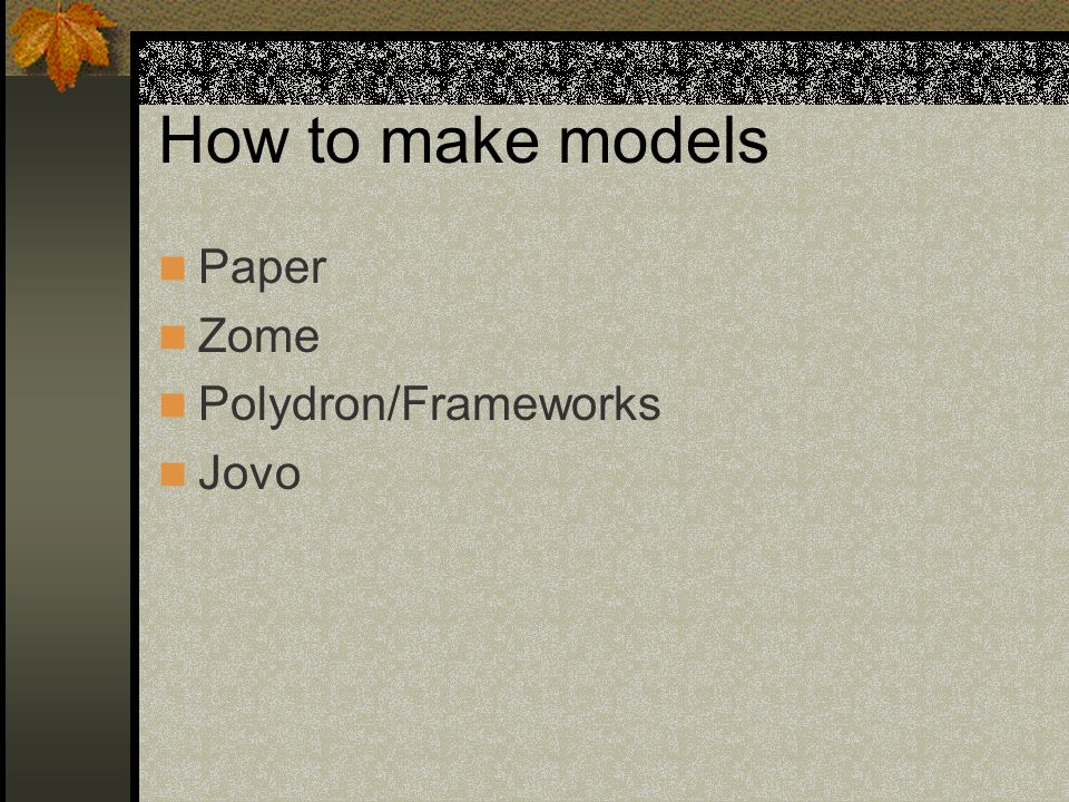 How to make models Paper Zome Polydron/Frameworks Jovo