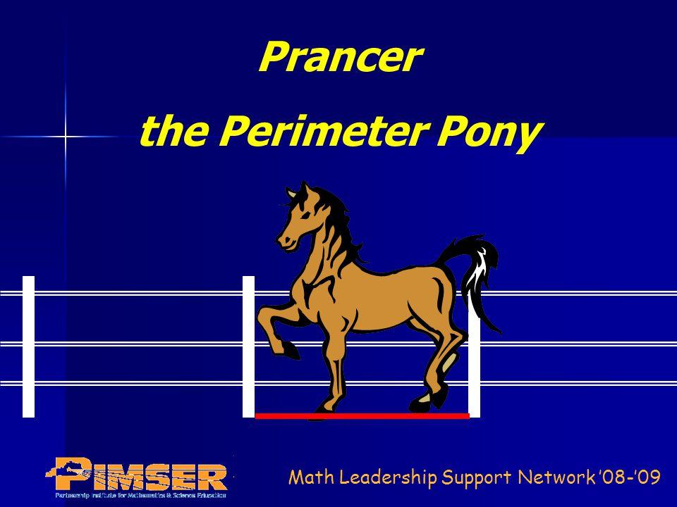 Math Leadership Support Network 08-09 Prancer the Perimeter Pony