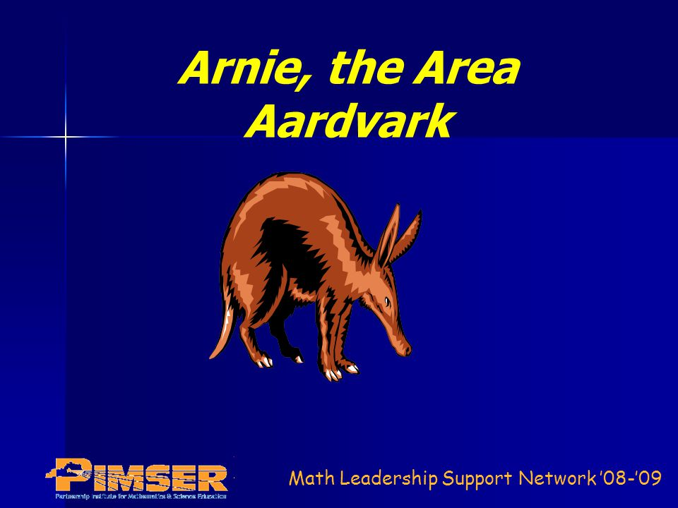 Arnie, the Area Aardvark