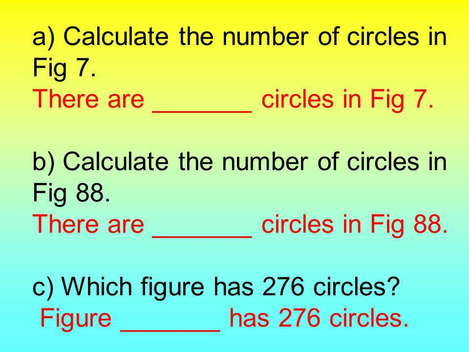 Question 3 Figure Number 123 Number of Circles Fig 1 Fig 2Fig 3