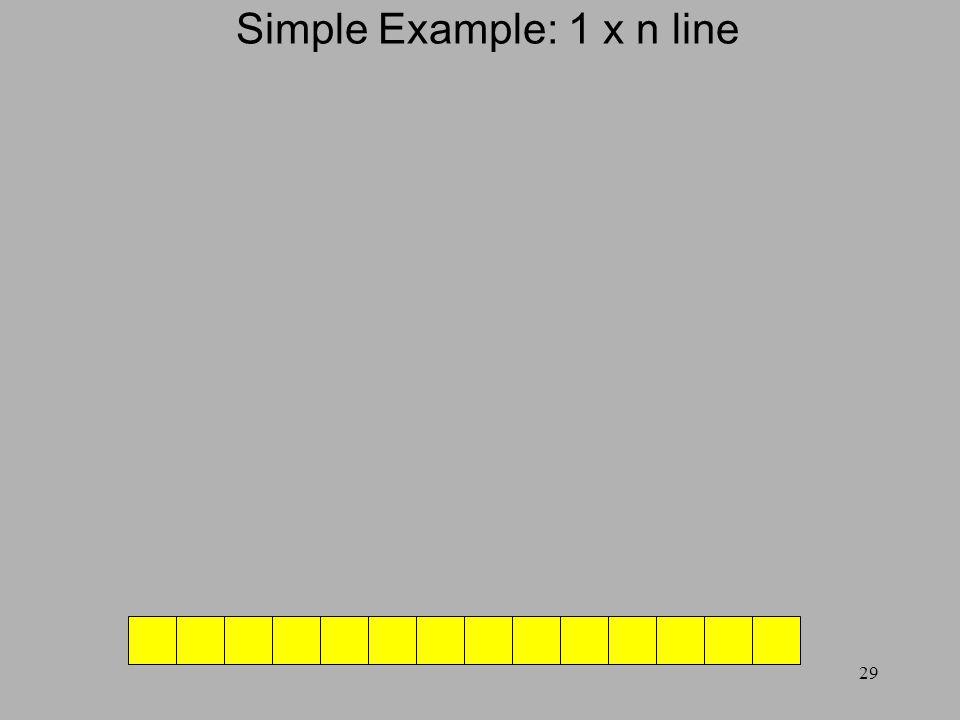 29 Simple Example: 1 x n line