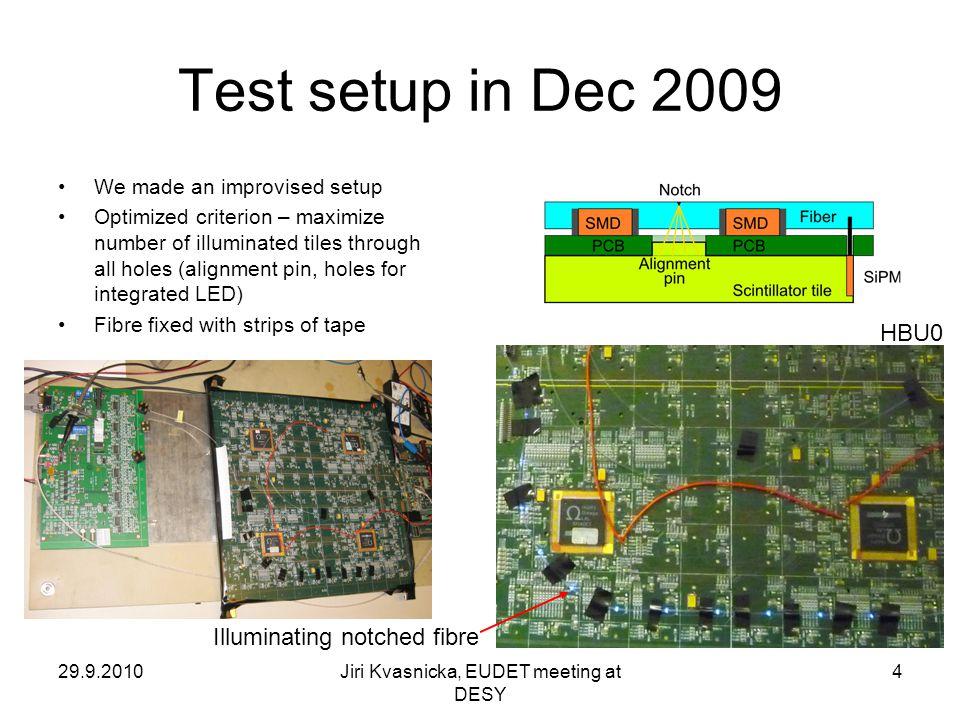 29.9.2010Jiri Kvasnicka, EUDET meeting at DESY 5 Topological map of 12×6 scint.