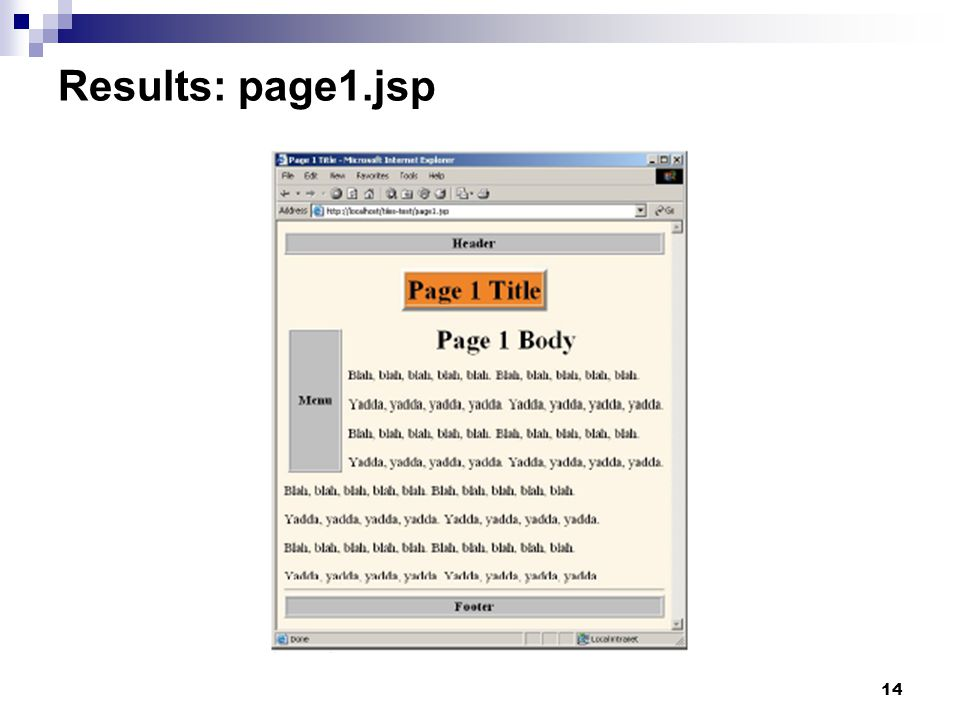 14 Results: page1.jsp
