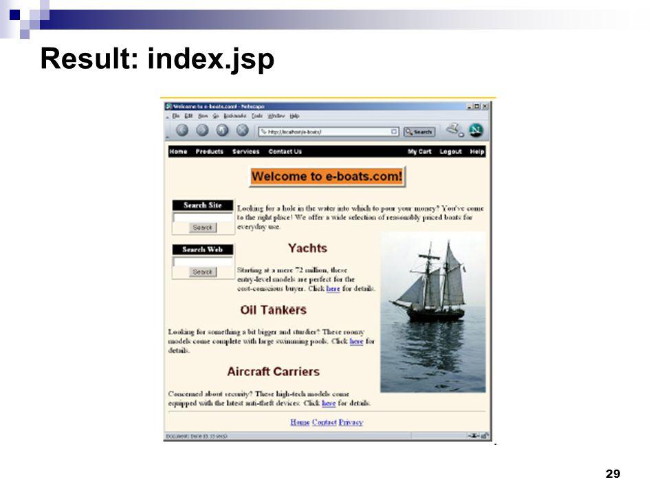 29 Result: index.jsp
