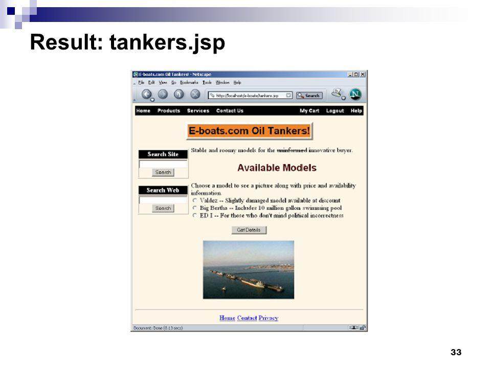 33 Result: tankers.jsp
