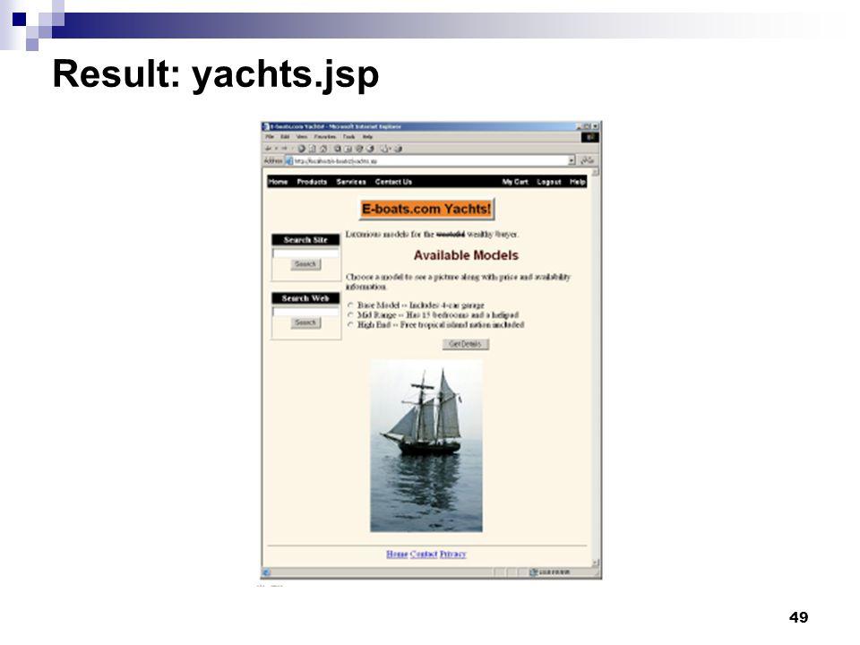 49 Result: yachts.jsp