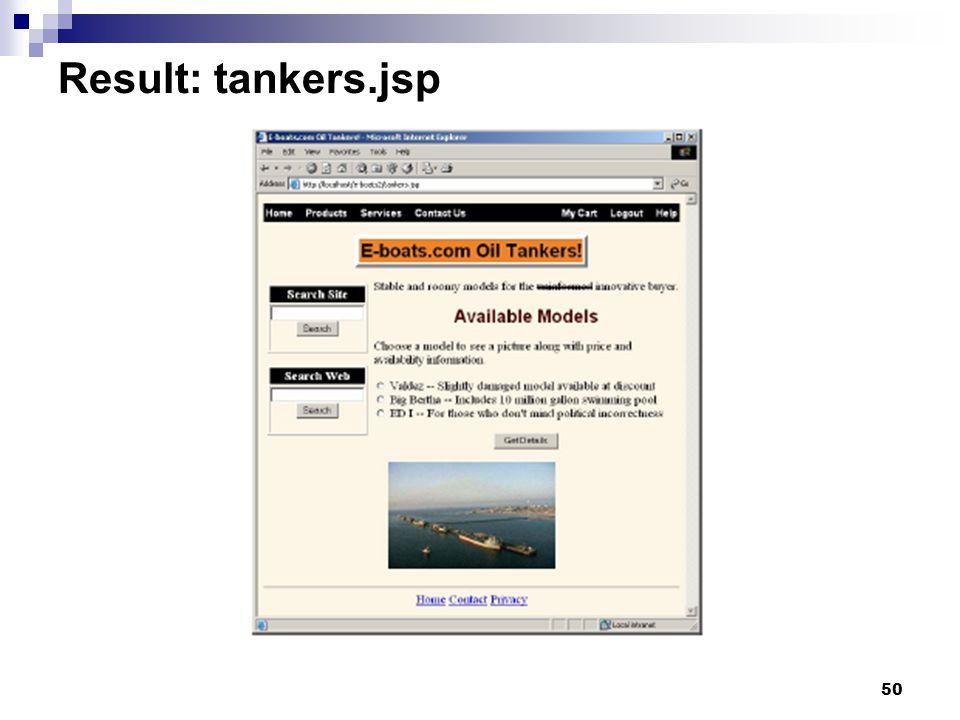 50 Result: tankers.jsp